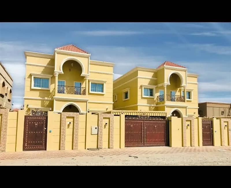 Villa for sale, personal finishing, excellent price, Ajman, Al Mowaihat area, close to the main street, a large building area