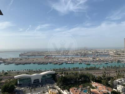3 Bedroom Apartment for Rent in Al Markaziya, Abu Dhabi - No Comission|3 cheques|Sea View|Maid's room