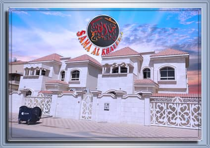 Bright new villa with a stone facade and modern design for sale in Ajman