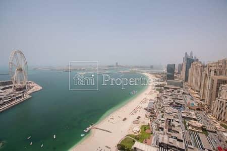 شقة 2 غرفة نوم للبيع في جميرا بيتش ريزيدنس، دبي - Beachfront | Middle Floor | JBR Walk View