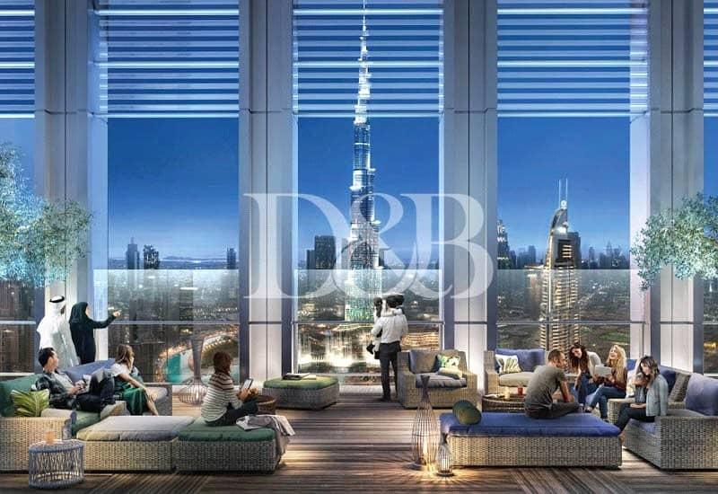 2 Last 1 Bedroom   Burj Facing   High Floor