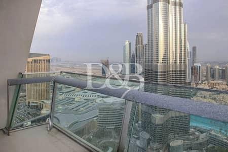 شقة 3 غرف نوم للايجار في وسط مدينة دبي، دبي - Full Burj And Fountain Views | Rare 2BR | Vacant