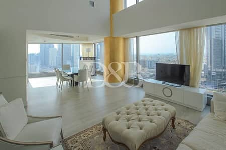 3 Bedroom Flat for Rent in World Trade Centre, Dubai - Unique Furnished Duplex Apartment | All Bills Inc.
