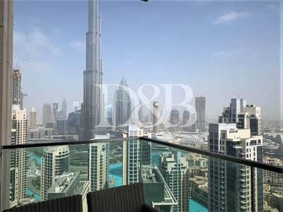 شقة 3 غرف نوم للايجار في وسط مدينة دبي، دبي - Maids Room | Balcony With Burj Khalifa View