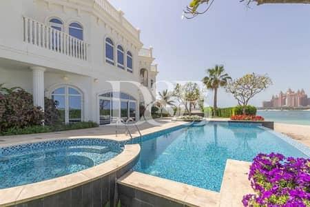 فیلا 6 غرف نوم للايجار في نخلة جميرا، دبي - Huge Custom Built Villa Stunning View Of Atlantis