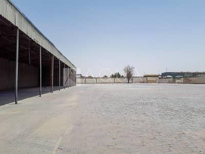 ارض تجارية  للايجار في رأس الخور، دبي - Open Yard | For Rent | Ras Al Khor Industrial 2