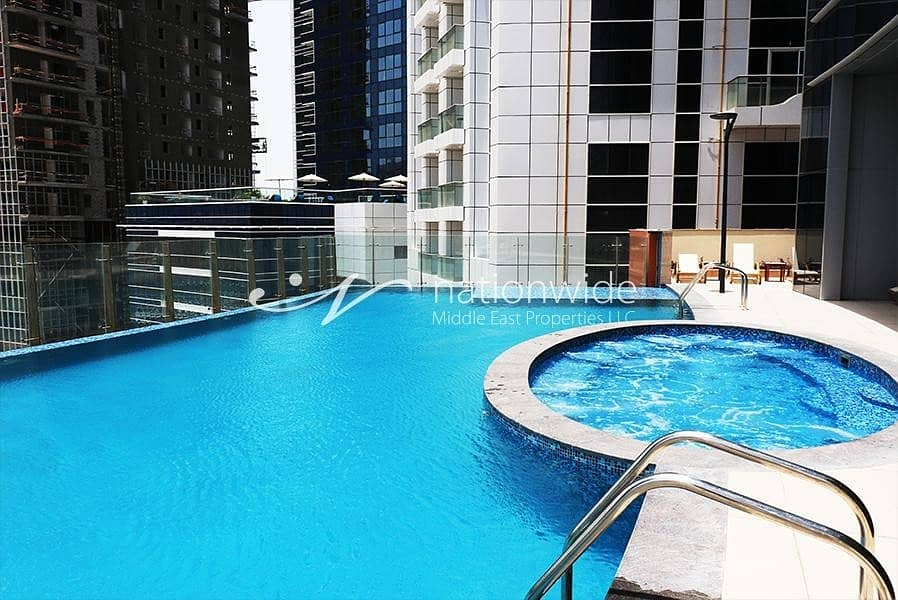 10 Hot Price! Sea View 2 BR with Maids Room In Hydra Avenue