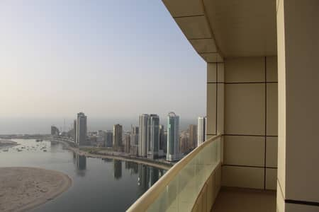 2 Bedroom Apartment for Rent in Al Khan, Sharjah - 2 BHK for rent  in Asas Tower full sea view , ready to move  excellent price with parking