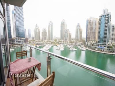 فلیٹ 1 غرفة نوم للبيع في دبي مارينا، دبي - Stunning Upgraded Furnished|Marina View|High ROI