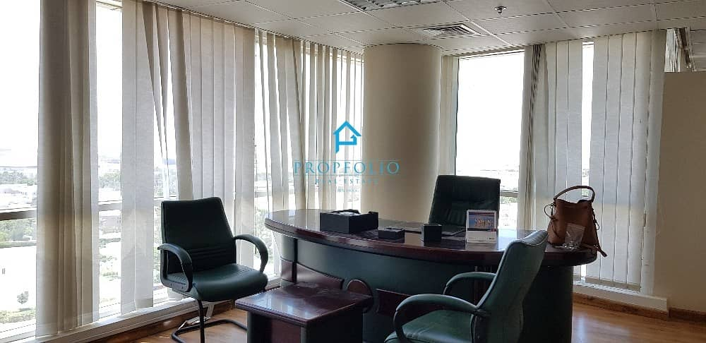 2 Distressed Deal I Amazing Villa View I Spacious Fitted Furnished I Rented office