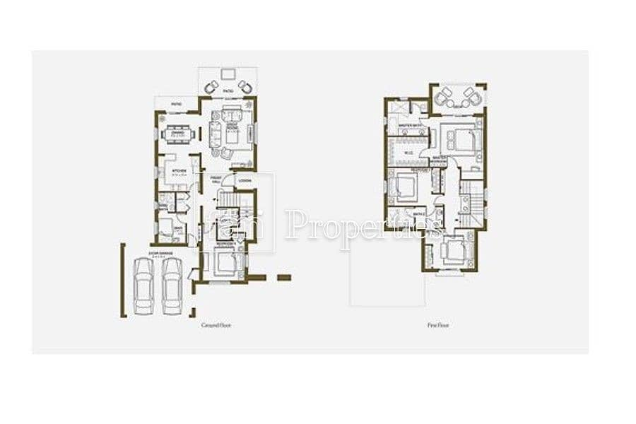 27 4BR Single row Villa | Type 2 | Arabian Ranches