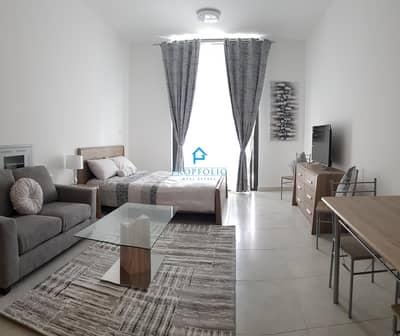 Studio for Rent in Dubai Silicon Oasis, Dubai - MUST SEE I AED 3400 Monthly including DEWA I Ready To Move In I Brand New I Nicely Furnished studio | Balcony | Wardrobe
