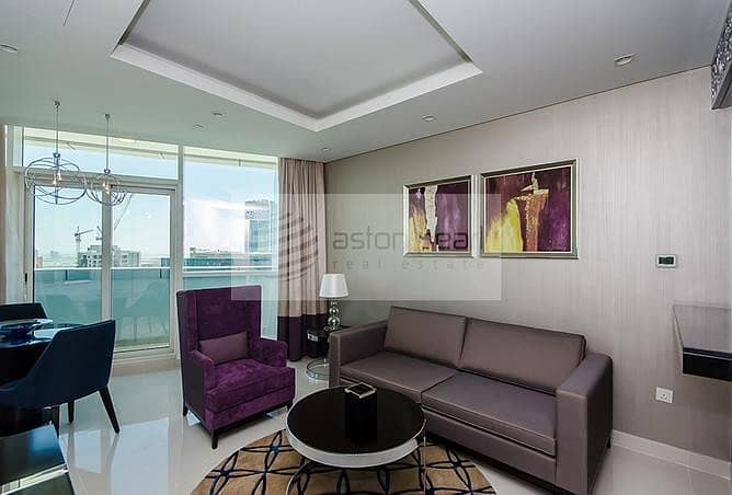 Canal View | High Floor | 1B | Furnished Apartment