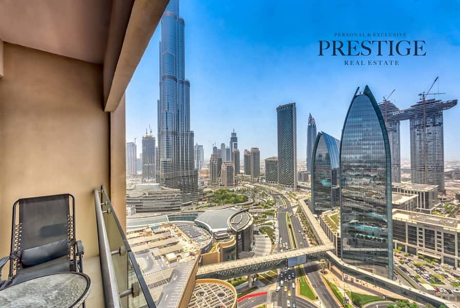 High Floor Studio | Address Dubai Mall |  Burj Khalifa Area