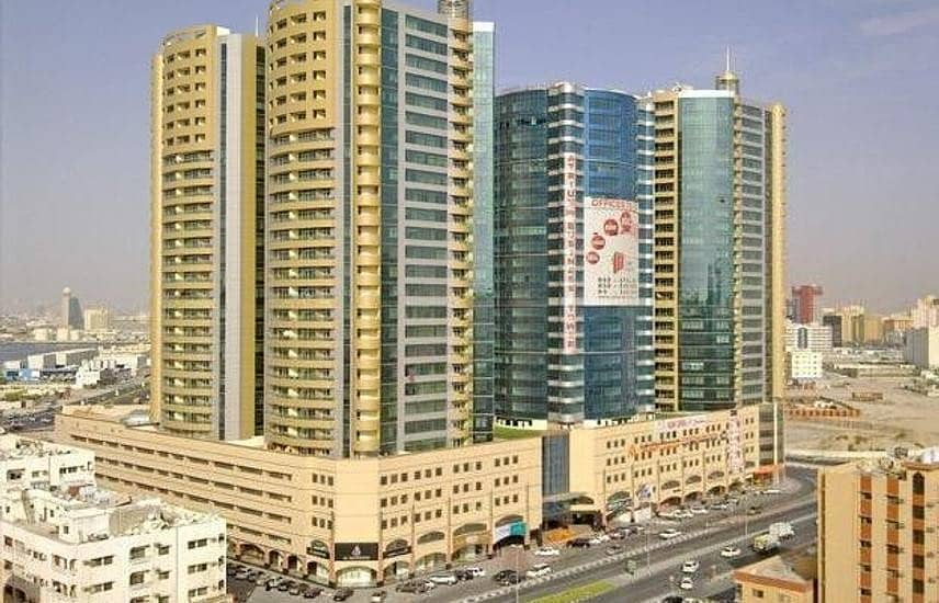 APARTMENT 2 BEDROOM AND HALL OPEN VIEW AT SEA  IN HORIZON TOWERS AJMAN DOWNTOWN FOR RENT
