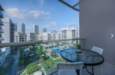 1 Bedroom Flat for Rent in The Greens, Dubai - Amazingly Furnished 1B with Pool View from Balcony