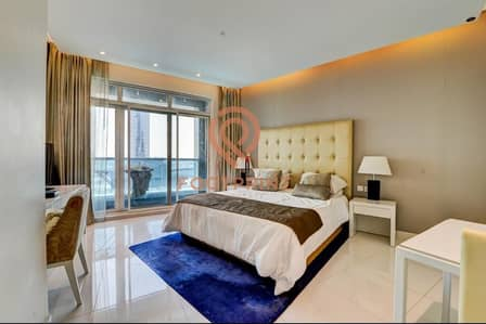 Studio for Rent in Business Bay, Dubai - LUXURY FURNISHED STUDIO WITH BALCONY/POOL VIEW
