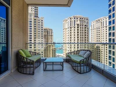 شقة 1 غرفة نوم للبيع في دبي مارينا، دبي - Full Marina Views | Upgraded Unit | Terrace