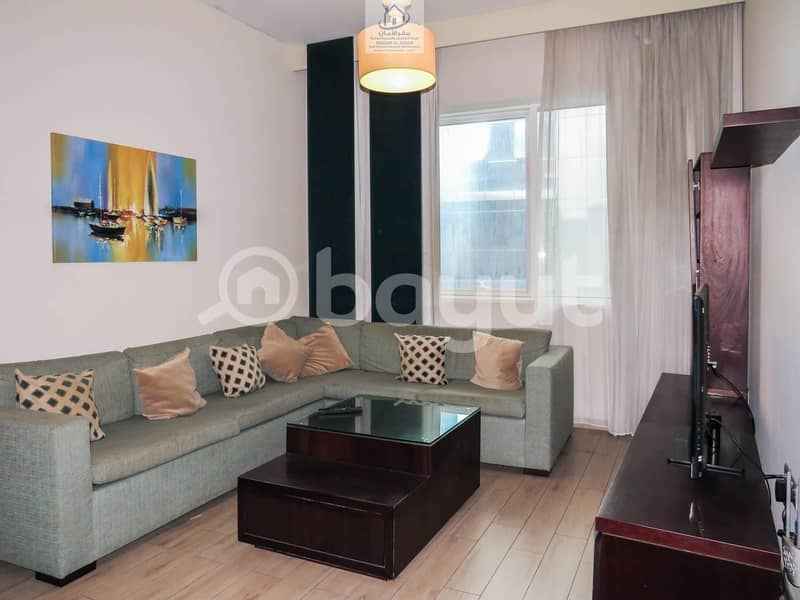 Luxurious Furnished  Apartments 1 Bedroom with Modern  Living Room  In Al Nahyan Camp