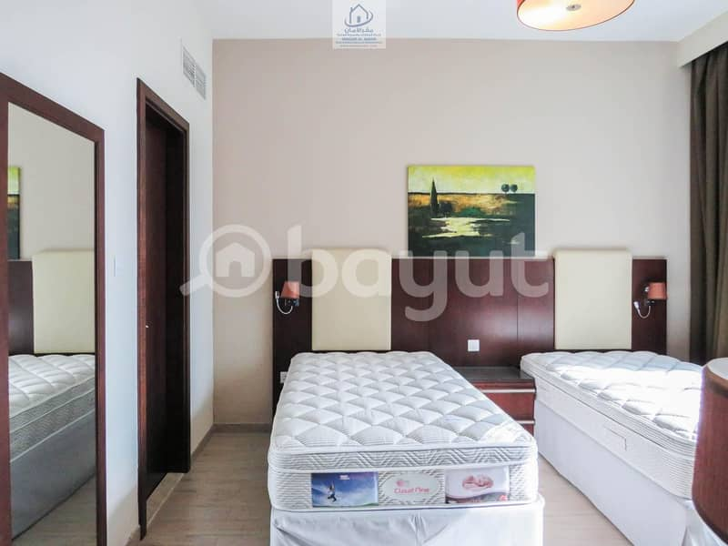 2 Luxurious Furnished  Apartments 1 Bedroom with Modern  Living Room  In Al Nahyan Camp