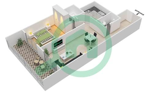 Lavender Tower - 1 Bedroom Apartment Unit 14 FLOOR 42-46 Floor plan