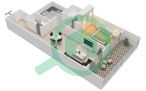Lavender Tower - 1 Bedroom Apartment Unit 8 FLOOR 7-41 Floor plan