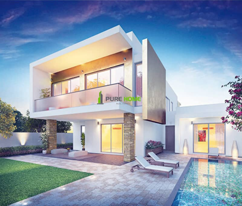 Free 3 Years Property Management  for this Amazing 3 Bedrooms Villa in Yas Acres