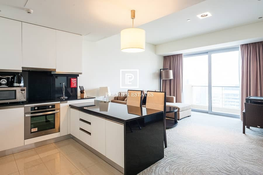 2 Beautiful Fully Furnished 1 Bedroom  Marina View