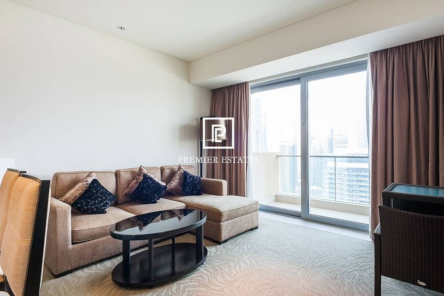 Beautiful Fully Furnished 1 Bedroom  Marina View