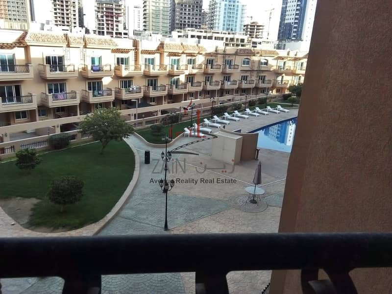 17 Lovely Bright Studio Apt | For Rent | Equipped Kitchen | Pool View