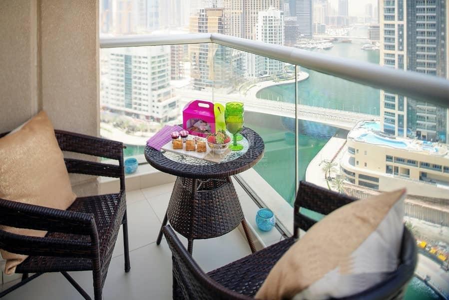 Unfurnished Option | Full Marina View |Vacant Soon