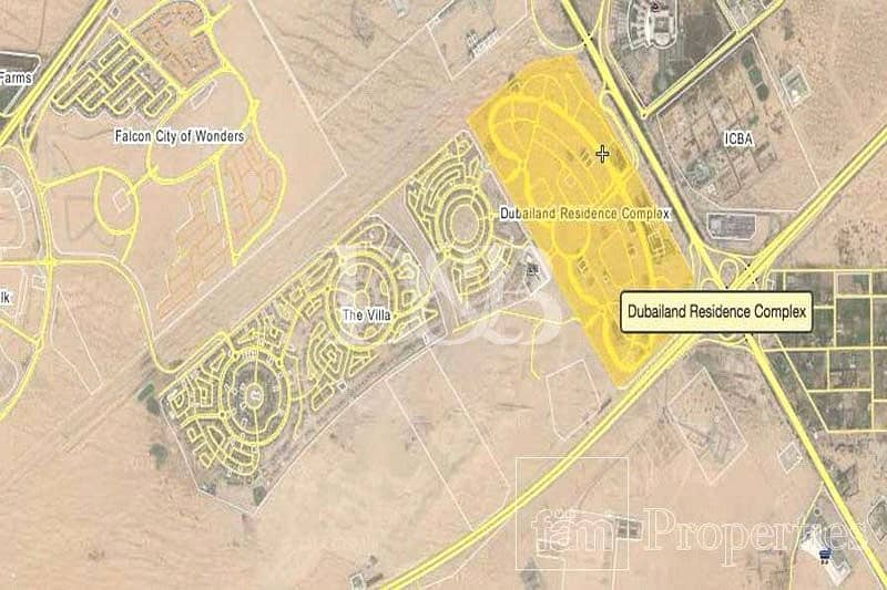 5 Dubai Land Residence Complex Plot For Sale