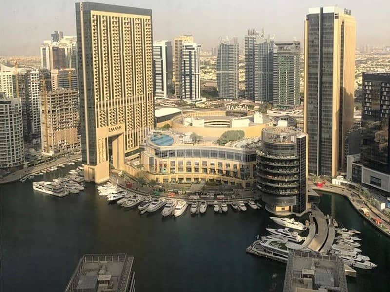 Furnished 2BR | High Floor | Marina and Sea View