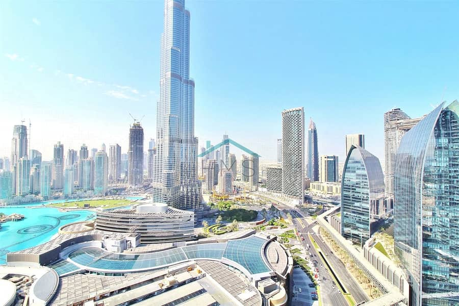 3 bed | Vacant | Fountain & Burj Khalifa view