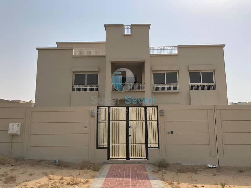 2 Brand New Elegant 5- Bedroom villa for rent Barashi sharjah