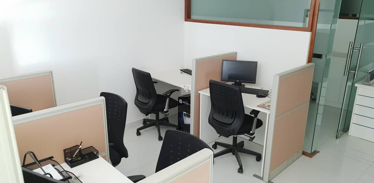 2 Fully Furnished Office @ 56 AED SQ.FT. | Maintained