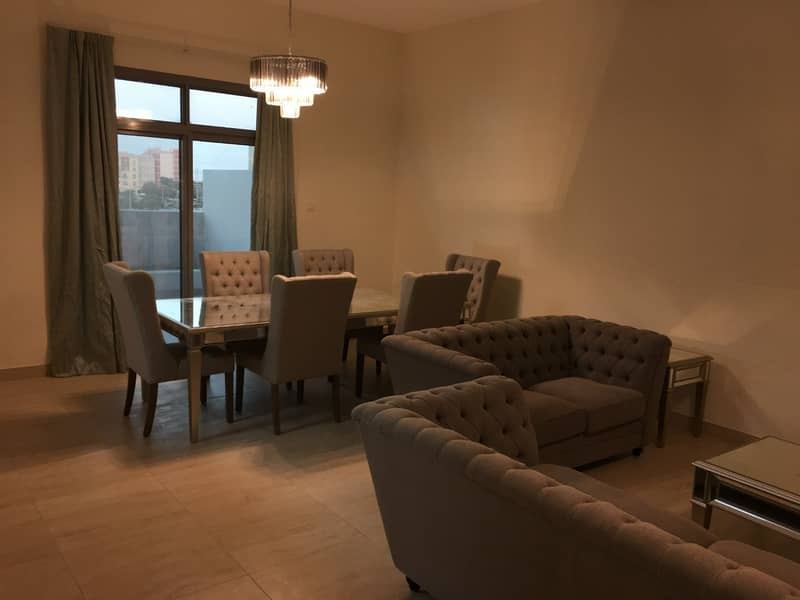 Chiller Free Spacious 3 BR Apt with Terrace for Rent in Yasmine Al Furjan