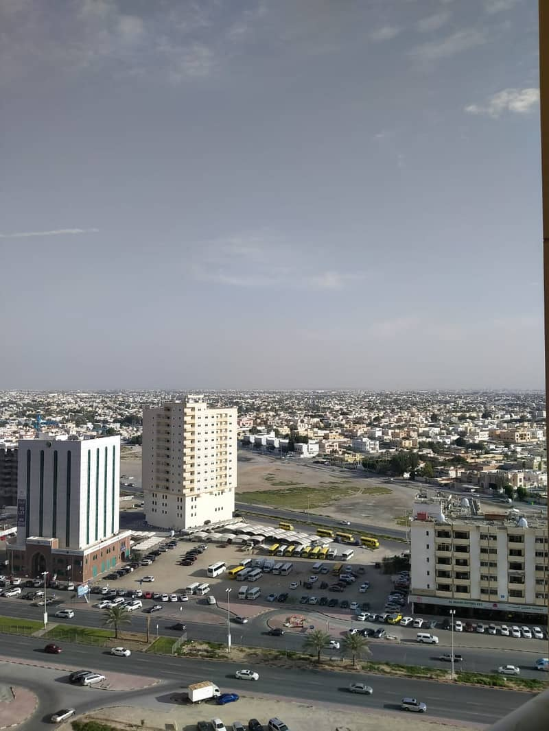 1 BHK biggest size partial city view with parking for rent in Ajman one tower