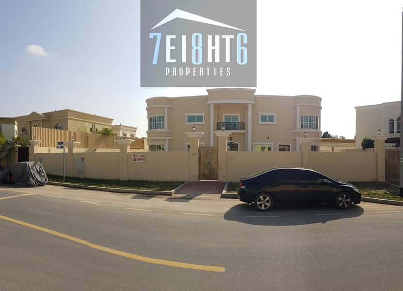 10 Beautifully presented: 5 b/r good quality independent villa + maids room + large garden for rent in Warqaa 3