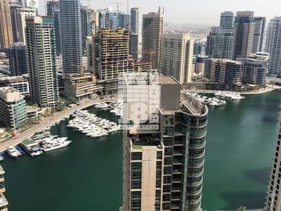2 Bedroom Apartment for Rent in Jumeirah Beach Residence (JBR), Dubai - Full Marina View  | High Floor | Big Laundry Room
