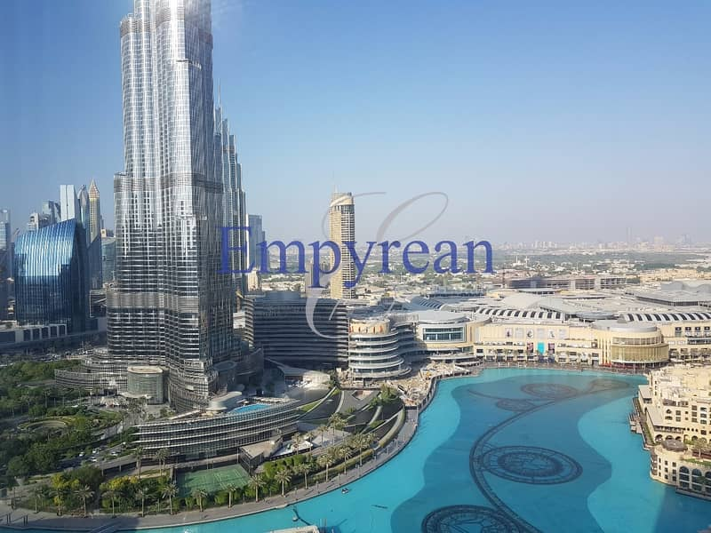 Furnished Full Fountain and Burj Khalifa VIew | Upgraded 2 / 3 Bedroom in The Residence Downtown