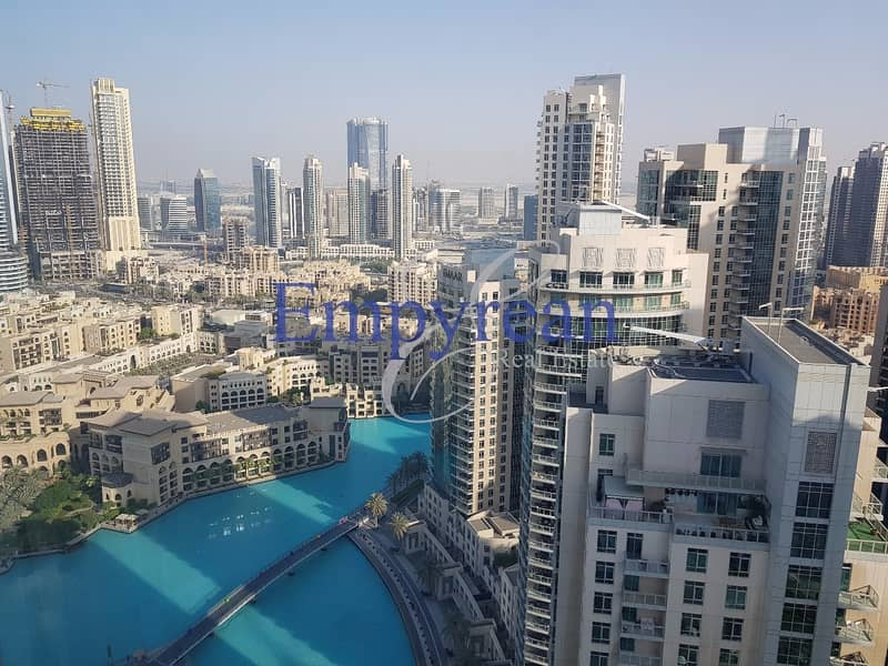 2 Furnished Full Fountain and Burj Khalifa VIew | Upgraded 2 / 3 Bedroom in The Residence Downtown