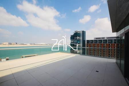 شقة 4 غرف نوم للايجار في شاطئ الراحة، أبوظبي - Sea View Exclusive 4 BR Apt with Huge Terrace