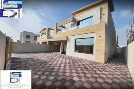 5 Bedroom Villa for Sale in Al Zahraa, Ajman - European design villa, large area, close to all services, the finest areas of Ajman (Al Rawda), freehold for all nationalities