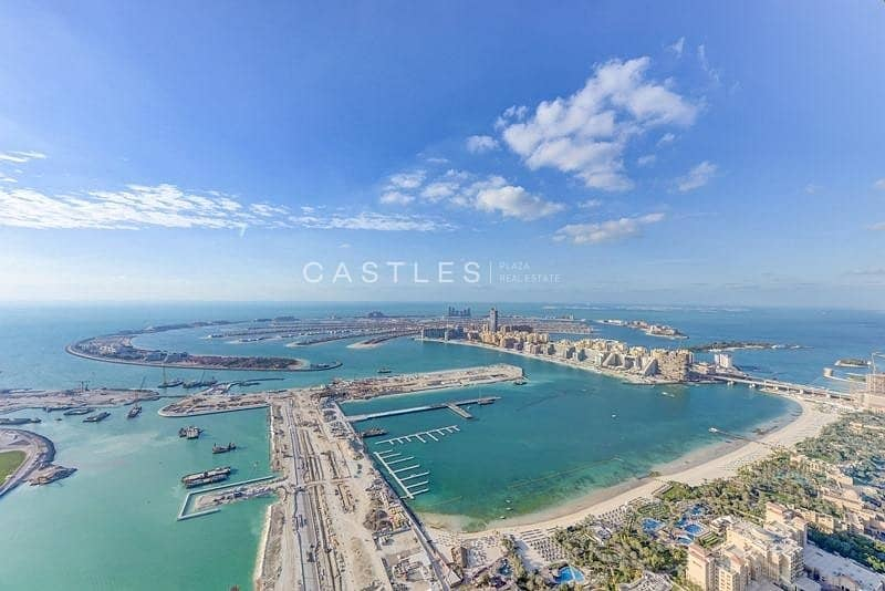 Stunning 4BR penthouse with panoramic full sea & marina view