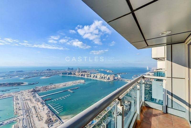 2 Stunning 4BR penthouse with panoramic full sea & marina view