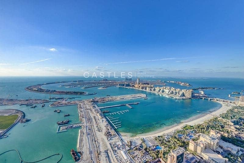 21 Stunning 4BR penthouse with panoramic full sea & marina view
