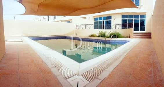 4 Bedroom Villa for Rent in Khalifa City A, Abu Dhabi - 4beds + driver room +swimming pool for 170k!