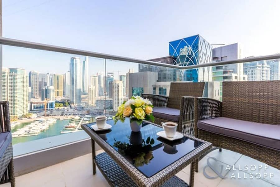 10 Upgraded | 2Bed | Furnished  | Marina View
