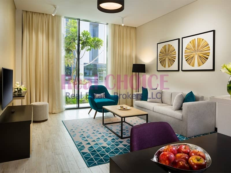 Fully Furnished 2BR Hotel Apartment|Near Metro